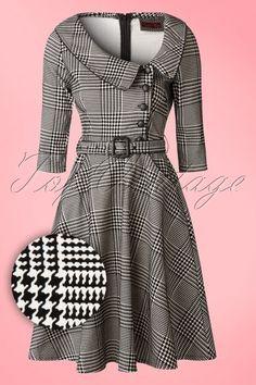 Vixen Black and White Houndstooth Dress 102 14 16313 20151111 0002WA