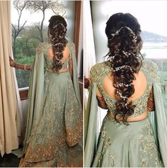 69 ideas flowers in hair for wedding updo babies breath Bridal Hairstyle Indian Wedding, Bridal Hair Buns, Bridal Hairdo, Wedding Hairstyles For Long Hair, Wedding Hair And Makeup, Bride Hairstyles, Hair Wedding, Indian Bride Hair, Indian Hairstyles For Saree