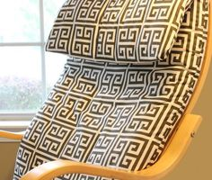 How to cover an old Ikea chair.  EASY!