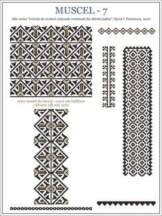 Folk Embroidery, Embroidery Stitches, Embroidery Patterns, Bead Loom Patterns, Beading Patterns, Knitting Patterns, Cross Stitch Designs, Cross Stitch Patterns, Smocking Plates