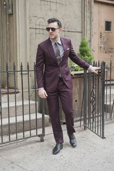 Autumnal burgundy suit from Primark. | Menswear | Pinterest | Ootd ...