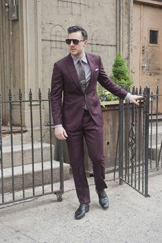 Autumnal burgundy suit from Primark.   Menswear   Pinterest   Ootd ...