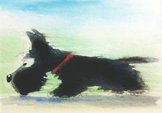 Scottish Terrier Dog Matt Art Print Scottie Dog