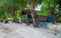 At Ibu Maria's Homestay, three two room bungalows over water are connected to shore based bathroom, toilet and dining facilities by a boardwalk._ Available oon Bedforest.