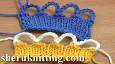 KNIT CROCHET BIND OFF CAST OFF http://sheruknitting.com/videos-about-knitting/knitting-for-beginners/item/702-knit-crochet-bind-off-cast-off.html Tutorial 7 Part 9 of 12.With this tutorial you will learn how to bind/cast off stitches using a crochet hook. Work slip stitches through group of loops and make chain spaces.