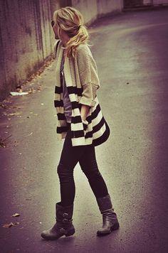 stripes skinnies boots