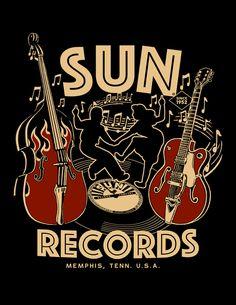 Sun Records Rockabilly Dance Work Shirt