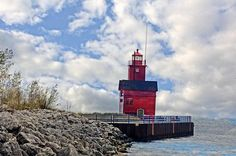 Big Red lighthouse, Holland Michigan Lighthouse, Holland Michigan, ,Michigan lighthouse