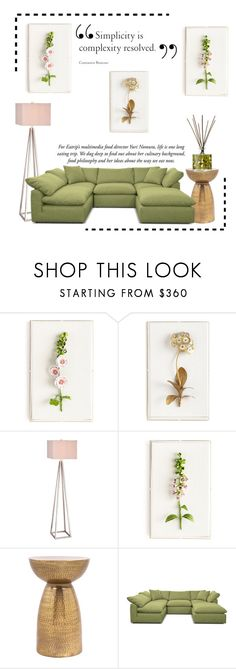 """""""Simple Room"""" by conch-lady ❤ liked on Polyvore featuring interior, interiors, interior design, home, home decor, interior decorating, Tommy Mitchell, JAlexander, Joybird and Orla Kiely"""