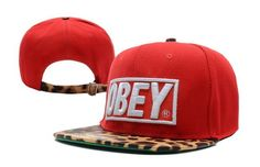 Obey Red Cheetah Snapback