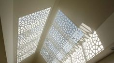 Laser cut screen for skylight
