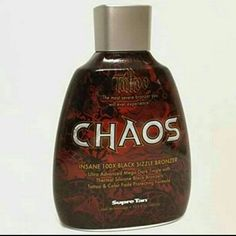 ⚡NEW⚡INDOOR TANNING LOTION ✴✴✴NEW✴✴✴ Supre Tan- Tattoo Chaos 100x Black Sizzle AUTHENTIC INDOOR TANNING LOTION This Ultra Advanced Mega Dark Tingle with Thermal Silicone Black Bronzers delivers a sizzling blaze of extreme darkness for an unforgettable dark tan. Our Tattoo ColorShield Technology combined with our revolutionary Inkcredible moisture blend helps nourish tattooed skin with hydration for longer lasting color. 13.5 fl oz. Supre Tan Other