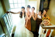 my fall wedding <3 My bridesmaids, flower girl and I. Pulz/Ball 2011