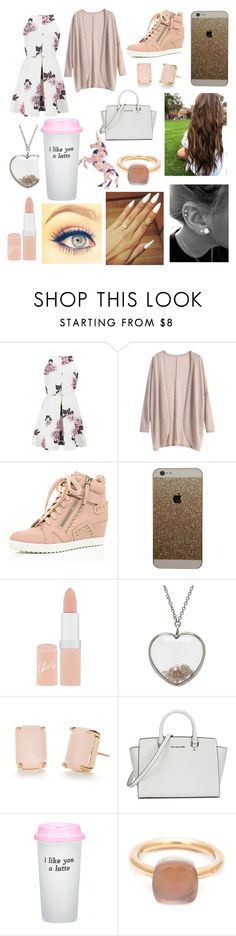 """""""Who wants a shoutout?!"""" by hailey1011 ❤ liked on Polyvore featuring Cameo, Rimmel, ADORNIA, Kate Spade, Michael Kors, Bow & Drape, Pomellato, women's clothing, women and female"""