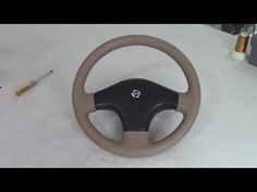 How to Leather-Cover a Three Spoke Steering-Wheel - YouTube