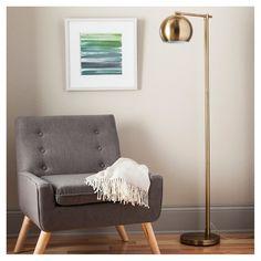 Modern Globe Floor Lamp - Brassy Gold (Includes CFL Bulb) - Threshold™ : Target