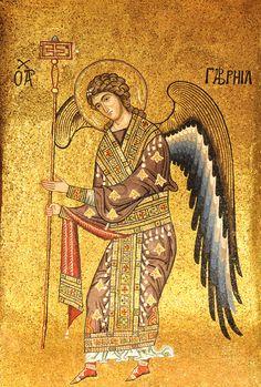 Archangel Gabriel, Archangel Michael, Religious Icons, Religious Art, Sainte Sophie, Mosaic Portrait, Mosaic Artwork, Pastor, San Miguel