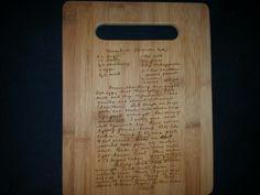 Custom cutting board for Nancy
