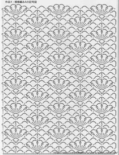 Crochet lace ground stitch: staggered flowers / fans design (cluny petals)