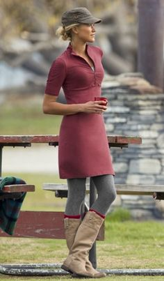 Skirts and Dresses: Outfit Ideas   Athleta    Id wear this all winter. closet