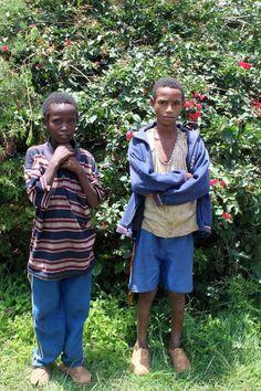 2 boys sponsored by Roots Ethiopia, in Gimbichu, Ethiopia. www.rootsethiopia.org