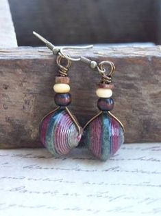 Image result for african paper bead earrings