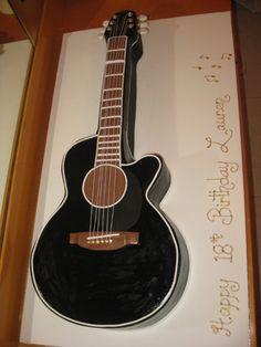 Acustic guitar cake