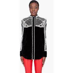 BALMAIN Black Pearl Embellished Blouse ($6,108) ❤ liked on Polyvore