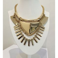 #necklace #tribal #gold #gucci #prada #chanel #versace #fashion #accessories #choker