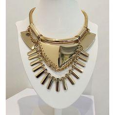 #necklace #tribal #gold #gucci #prada #chanel #versace #fashion #accessories #choker
