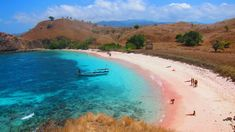 from the hilltop of pink beach, Komodo island, NTT Indonesia