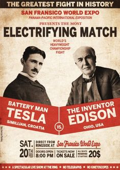 """Nikola Tesla emigrated to the US in 1884 to work for Thomas Edison. He soon struck out on his own with financial backers. His patented AC induction motor and transformer were licensed by George Westinghouse, who also hired Tesla for a short time as a consultant. His work in the formative years of electric power development was involved in a corporate alternating current/direct current """"War of Currents"""" as well as various patent battles."""