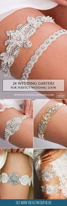 24 Exquisite Wedding Garters For Perfect Wedding Look❤   Wedding garters play a significant role in creating a stunning wedding look. It should match your style and complete attire. Check out our list below! See more: http://www.weddingforward.com/wedding-garters/ #weddings #garters #dress