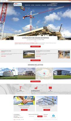 Lancement su site Nouet Batiment | Acreat Web Technologies Desktop Screenshot, Rocket Launch, Business