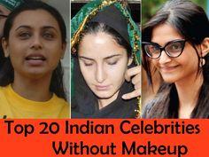 Top 20 Indian Celebrities Without Makeup