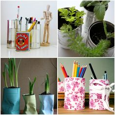 Cute recycling projects for tin cans, toilet paper rolls, and jewelry storage. LOVE the TP roll ideas! Diy Projects To Try, Recycling Projects, Diy Crafts For Adults, Toilet Paper Roll, Recycled Crafts, Diy Crafts Videos, Cookies Et Biscuits, Jewellery Storage, Decoration