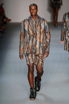 Alexandre Herchcovitch's diffusion line offered 90s inspired silhouettes and bold prints for the Fall/Winter 2013.