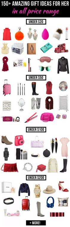 The Ultimate Gift Guide for Her: 150+ Amazing Gift Ideas for Women | Click to discover the best gifts for her this season. A great selection of affordable presents to choose from. Christmas gift | gift ideas for mom  | gift ideas christmas 2016 | Cheap gifts | gift ideas cheap | gift ideas under $50 | gift ideas under $100 | gift ideas under $20