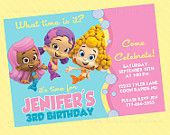 Bubble Guppies Birthday Invite