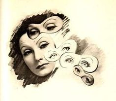 Cecil Beaton, Greta Garbo with masks