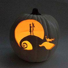 Jack and Sally Pumpkin (artificial pumpkin) The Nightmare Before Christmas
