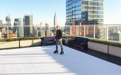 The rooftop ice skating rink at the Atelier (Photo: Atelier) // 8 over-the-top amenities in NYC luxury apartments