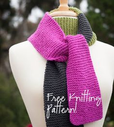 NobleKnits Knitting Blog: Ewe Ewe Scarf Free Knitting Pattern