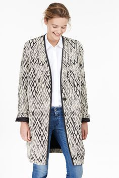 Jacquard coat with ethno pattern | #style #fashion