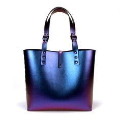 Cobalt Iridescent Vegan Tote Bag