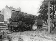 Last of the steam trains leaving Greenock