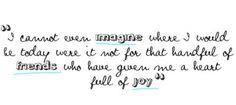 I cannot even IMAGINE where I qould be today were it not for that handful of FRIENDS who gave me a heart of joy <3 #quote