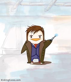 @Brooke Paquette kickingcones:  Tenth Doctor Who Penguin —Kicking Cones:)