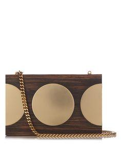 Stella McCartney Circle-detail wooden box classic clutch  1,391 Wooden  Boxes, Shopping Bag, 42921b247c