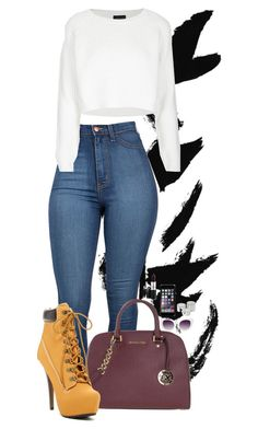 """""""Ready to Fall"""" by goldenhippy on Polyvore featuring MICHAEL Michael Kors, ZiGiny, Topshop, MAC Cosmetics, Crap and Monki"""